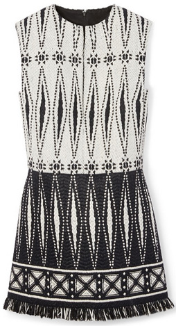 tory burch fringed dress