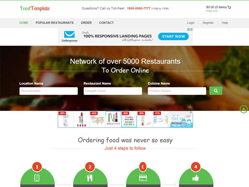 Freedownloadtemplates Bootstrap Restaurant Template