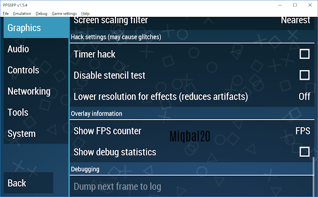 Cara Ampuh Setting PPSSPP di low PC - Miqbal20