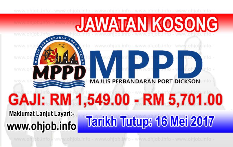 Jawatan Kerja Kosong MPPD - Majlis Perbandaran Port Dickson logo www.ohjob.info mei 2017