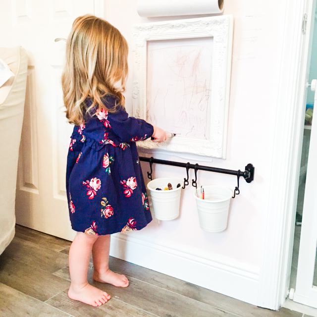 Children's Art Station: The Perfect Toddler Coloring Station by popular South Florida lifestyle blogger Celebration Stylist