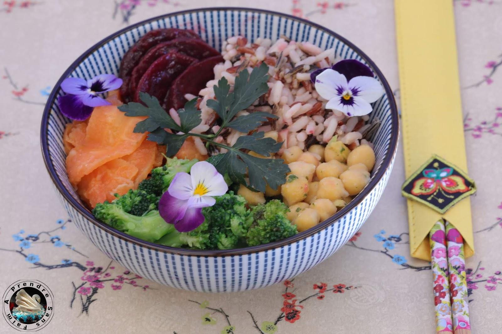 Buddha bowl riz pois chiches aux légumes