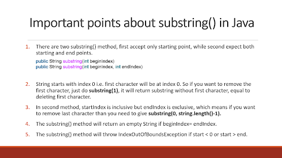 10 Examples of substring in Java