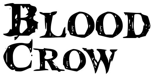 Blood Crow font