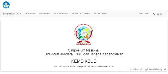 Simposium GTK Kemdikbud 2016
