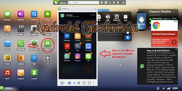 Cara Menyadap SMS, BBM, Whatsapp Android Tanpa Root