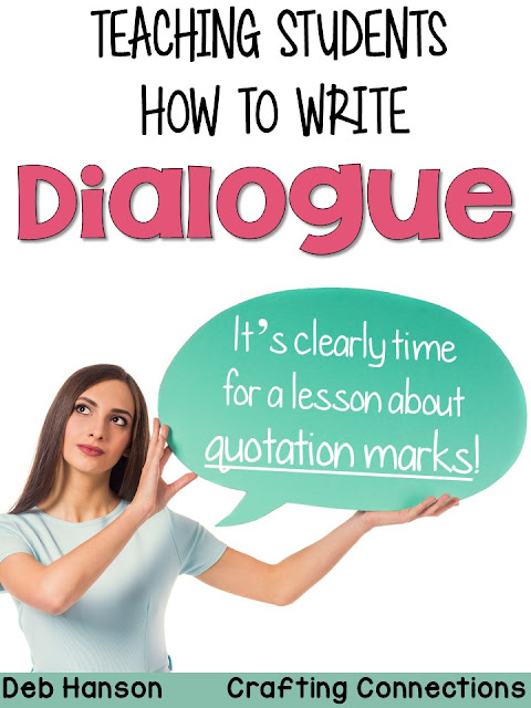 Teaching students to write dialogue can be tricky. Use this quotation marks anchor chart and worksheet freebie to introduce the concept to your students!