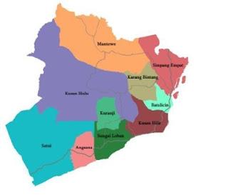 Peta Kabupaten Tanah Bumbu