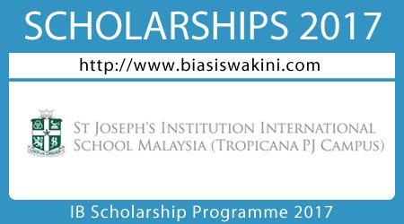 IB Scholarship Programme 2017