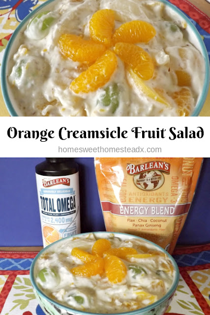 Orange Creamsicle Fruit Salad - Home Sweet Homestead #SpringSweetsWeek