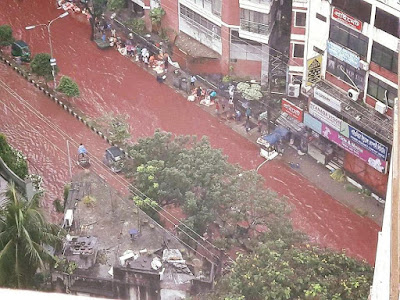 Image result for (Photos)Streets overflow with blood in Bangladesh following Eid sacrifices