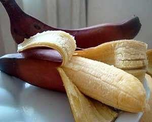 Banana vermelha é deliciosa e saudável