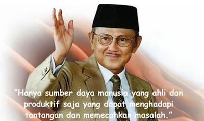 Kartu ucapan Kemerdekaan Presiden BJ Habibie