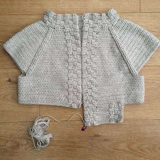 Callander cardigan in progress