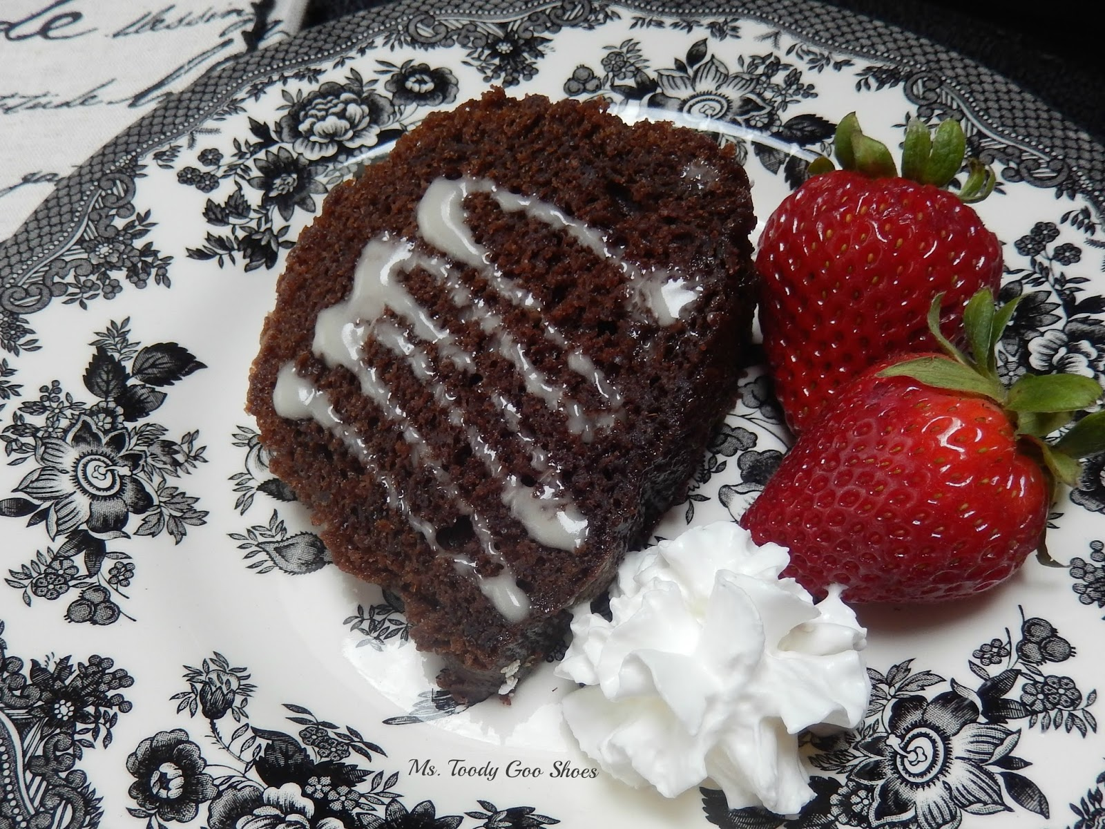 Died & Went to Heaven Chocolate Bundt Cake -- Ms. Toody Goo Shoes