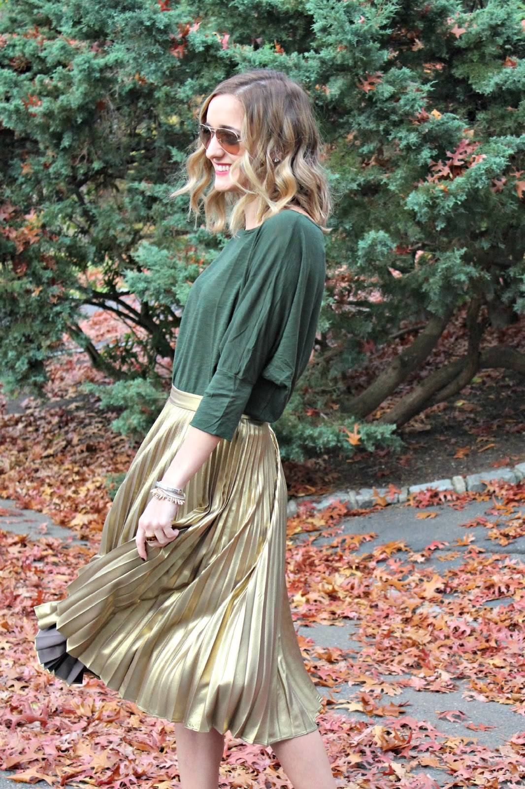 gold alc skirt