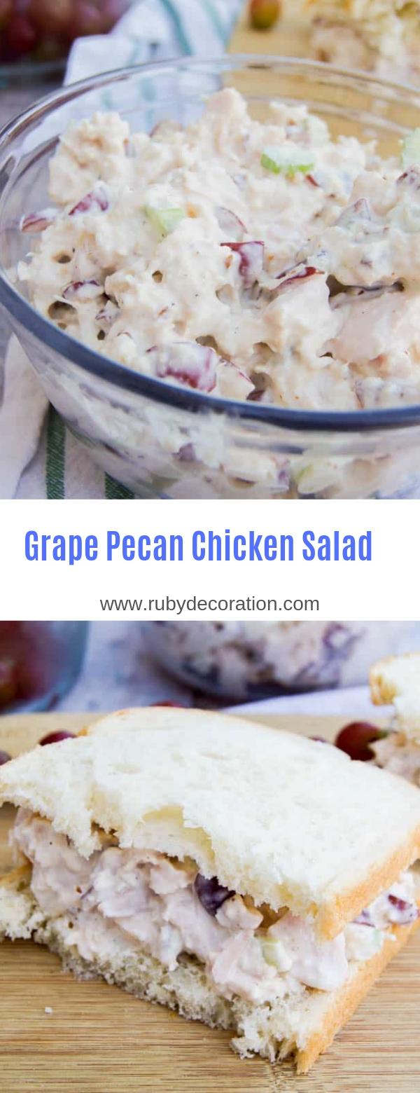 Grape Pecan Chicken Salad