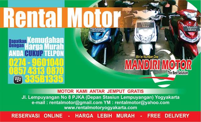 Rental Motor Jogja 2018 murah
