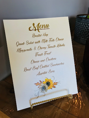 Menu for a luncheon