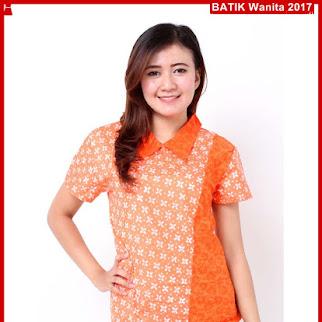 D7TBD Kaos Batik Aisha Kombi Oranye Terbaru Bj79D7