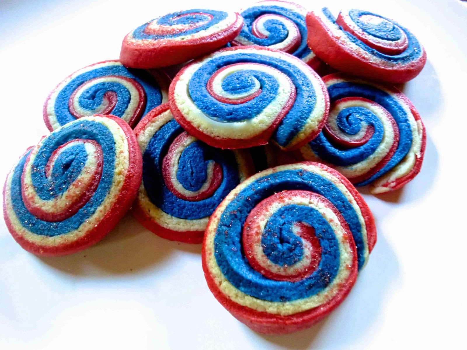 diary of a mad hausfrau: red, white and blue pinwheel cookies