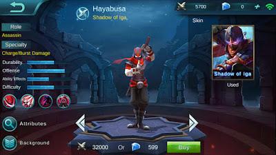 Build Hayabusa Full Damage Terbaik Mobile Legends