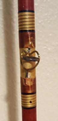 Damaged varnish on thread wraps