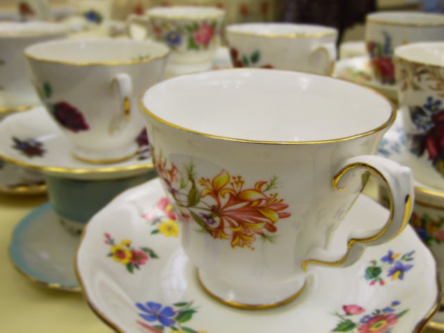 Pretty vintage teacups at  lou lou's vintage fair, Cardiff | ACupofT