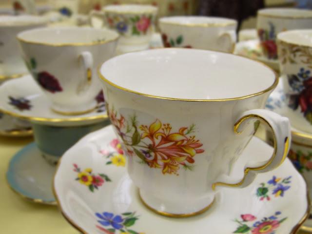 Pretty vintage teacups at  lou lou's vintage fair, Cardiff | ACupofT