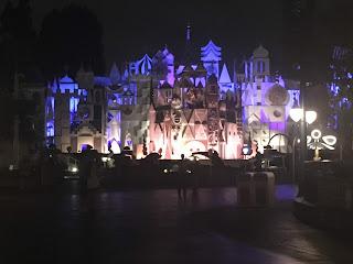 It's a Small World Facade at Night Disneyland