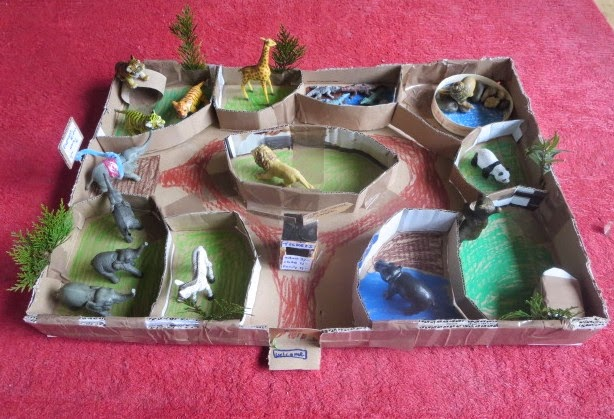 The Quirky Parent Thinking Inside The Box Make A Cardboard Zoo
