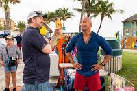 Seth Gordon and Dwayne Johnson on the set of Baywatch (2017) (57)