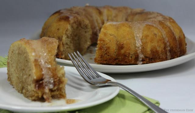 cinnamon cake, breakfast, dessert, snack, glaze, cinnamon filling