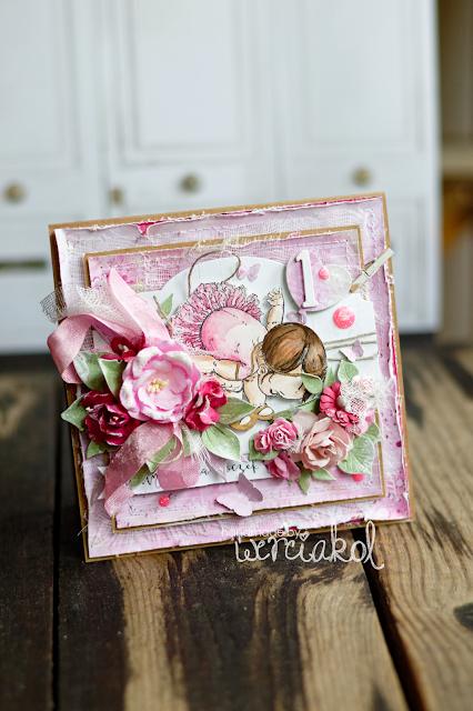 Różowa kartka na roczek