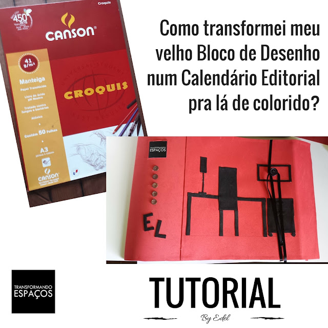 Como transformei meu velho Bloco de Desenho num Calendário Editorial pra lá de colorido?