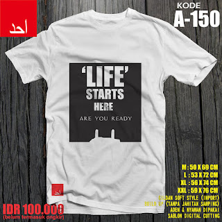 Life Starts Here - Desain Baju Muslim