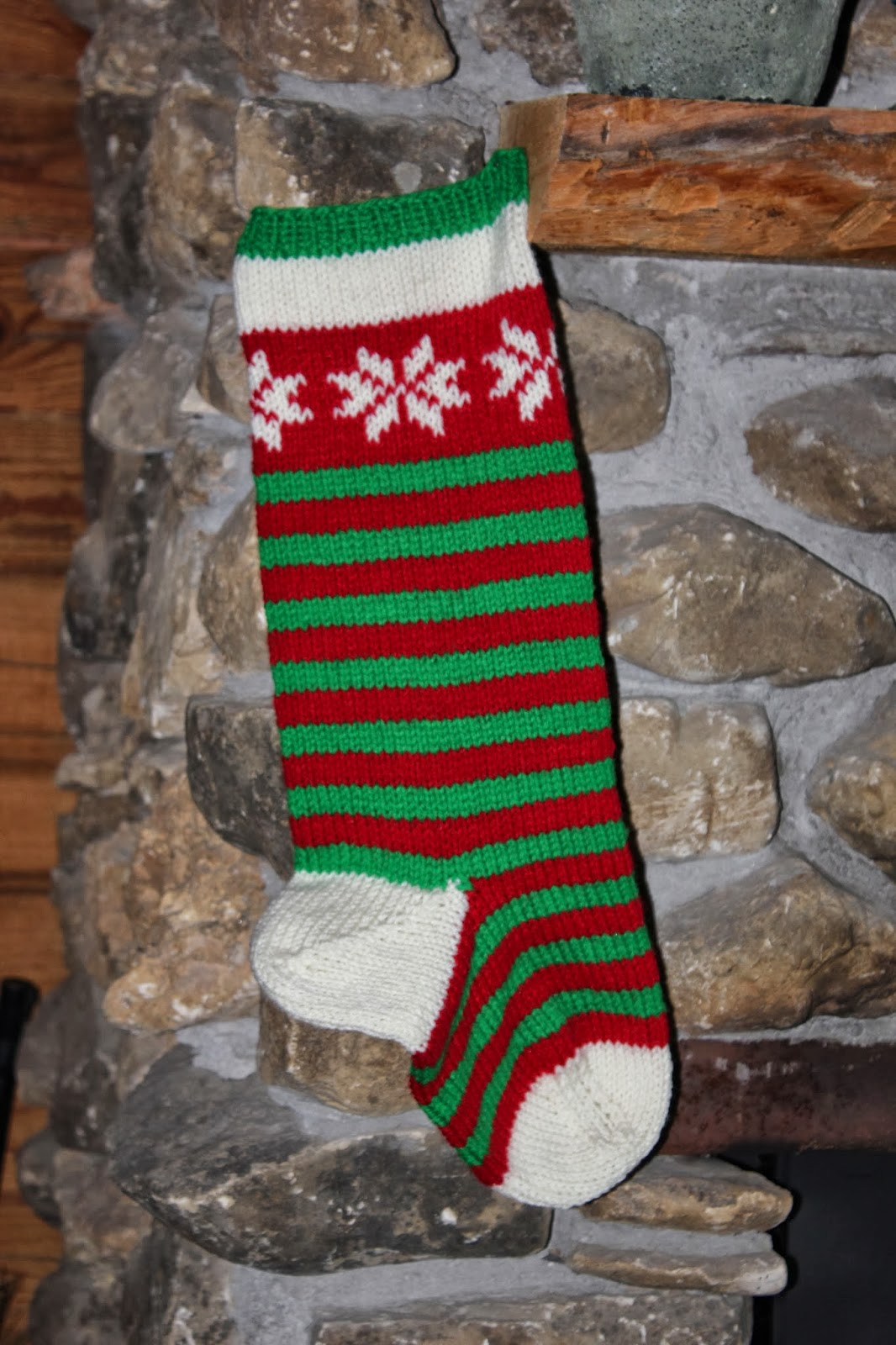 The Cabin Countess My Basic Pattern For Knitting A Christmas Stocking
