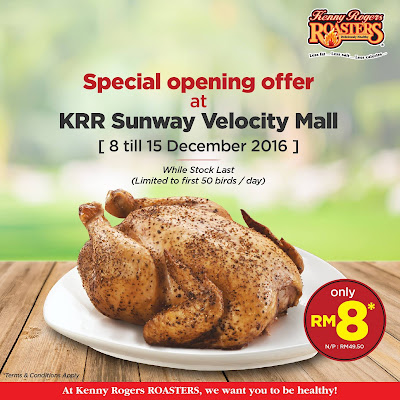 Kenny Rogers ROASTERS Malaysia Opening Discount Promo