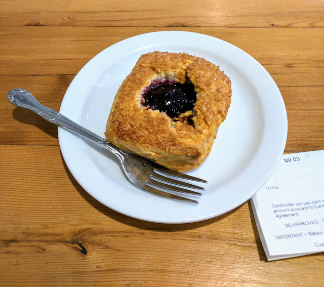 Coffee in Seattle's Fremont neighborhood: Milstead and Co. marionberry scone