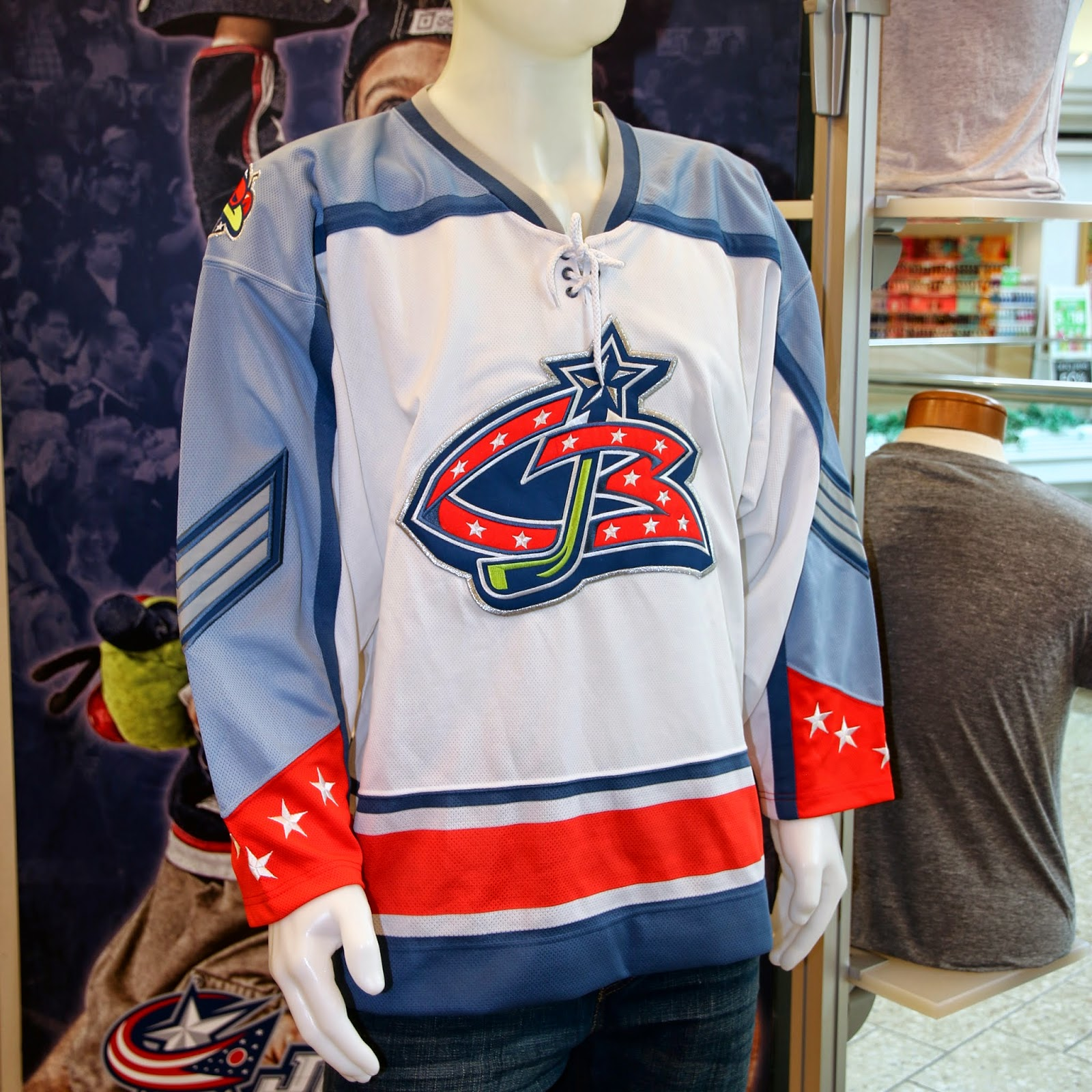 A lace-up collar would eventually become an element in the first Columbus  alternate jersey in 2003 as well as the current alternate introduced in  2010. 4a3810afe