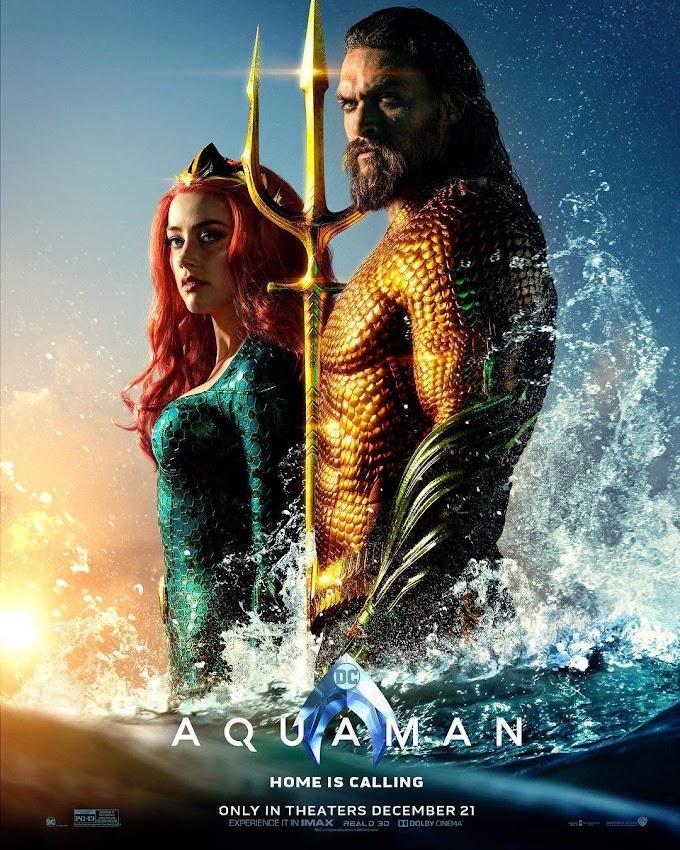 Aquaman – Usando o uniforme clássico é destaque em novo pôster do filme