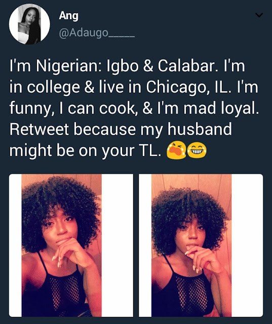 This Chicago based Nigerian chick is in search of a husband on Twitter