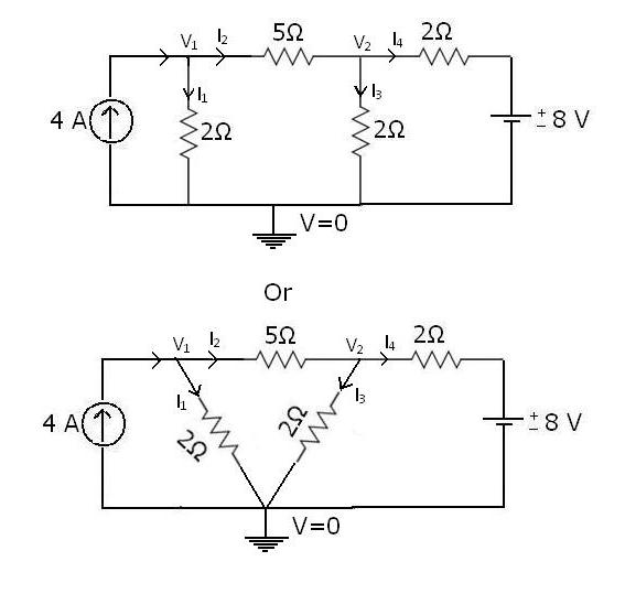 nodal analysis example circuit