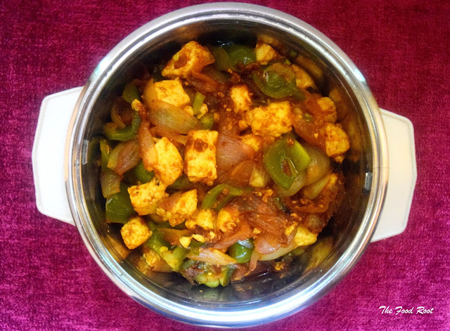 An Indo - Chinese dish that is inspired with Asian sauces using Indian ingredients, stir-fry peppers and paneer are one of my favorites.