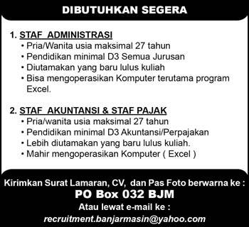 Lowongan Kerja Banjarmasin Maret 2013 Terbaru Lowongan Kerja Terbaru Lowongan Kerja Maret 2013 Lowongan Pekerjaan Terbaru Wilayah Kalimantan Selatan Banjarmasin