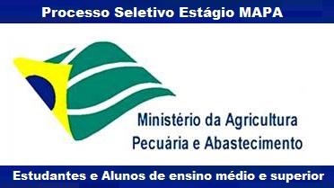 Apostila processo seletivo MAPA Estágio de Estudantes 2016 para Ministério da Agricultura - MAPA.