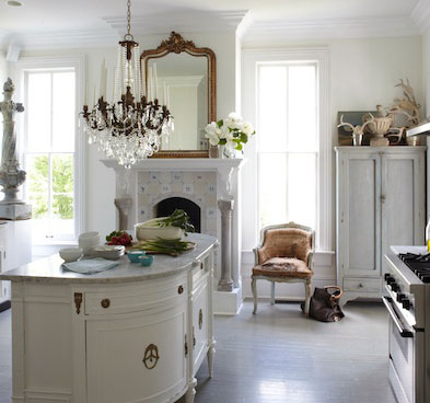 Romantic farmhouse style interior design by Annie Brahler Smith - found on Hello Lovely Studio