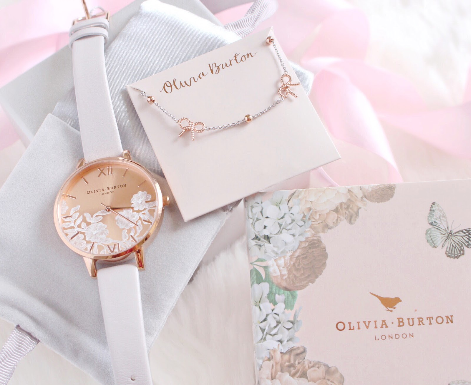 Olivia Burton Lace Watch & Vintage Bow Bracelet | Love, Catherine
