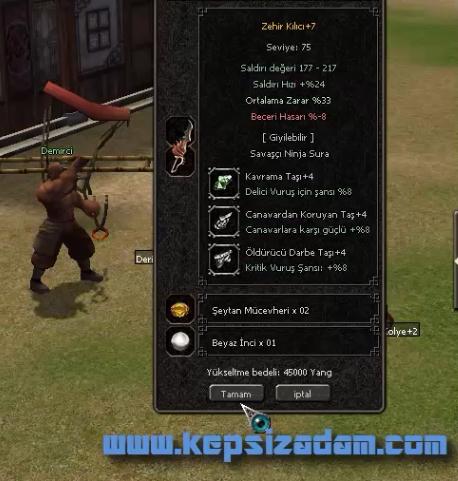 metin2 zehir kılıcı +7 basma