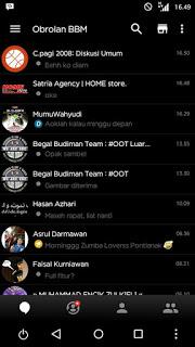 BBM MOD Black Tema Hitam v3.0.0.18 Terbaru Apk